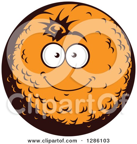 Clipart of a Smiling Happy Orange Character - Royalty Free Vector Illustration by Vector Tradition SM