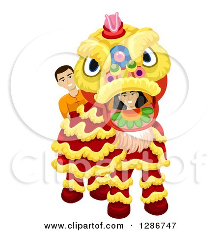 Lion Dancing Clipart Chinese Lion Dance Costume