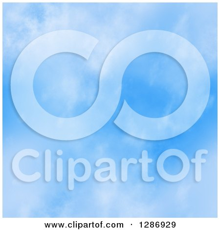 Clipart of a Seamless Blue Sky Background - Royalty Free Illustration by Arena Creative