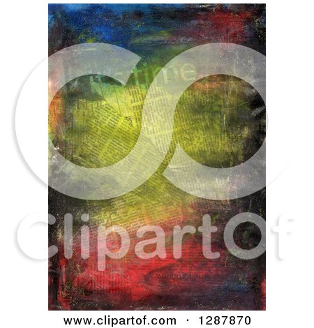Clipart of a Collage of Newspapers and Texture - Royalty Free Illustration by Prawny