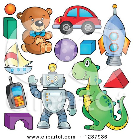 Clipart of Boy Toys - Royalty Free Vector Illustration by visekart