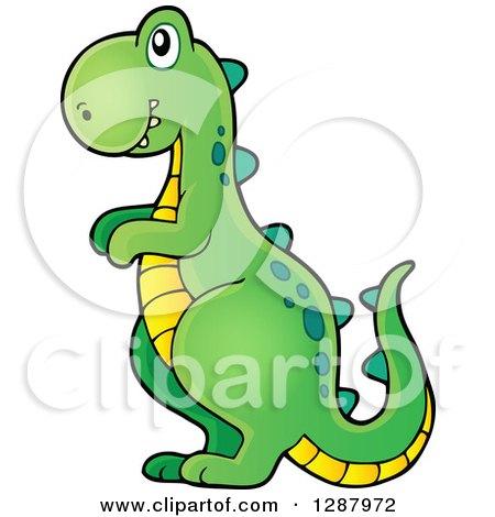 Clipart of a Tyrannosaurus Rex Dinosaur Boys Toy - Royalty Free Vector Illustration by visekart