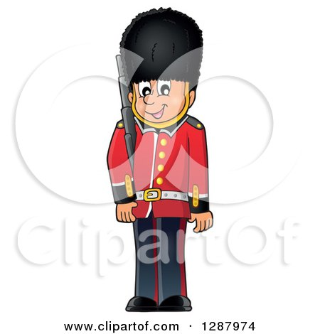 Clipart of a Happy London Beefeater Guard - Royalty Free Vector Illustration by visekart
