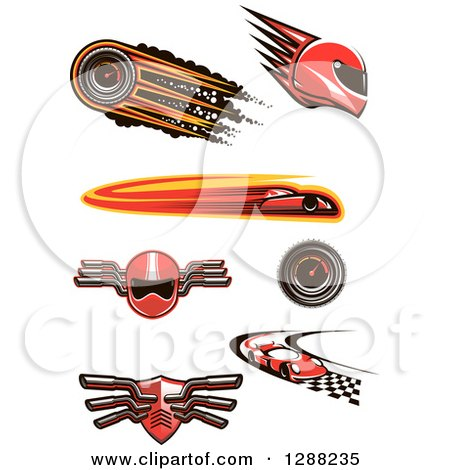 Clipart of Auto Racing Designs - Royalty Free Vector Illustration by Vector Tradition SM