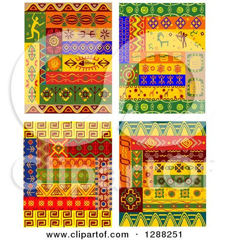 Clipart of Tribal African Design Elements - Royalty Free Vector Illustration by Vector Tradition SM