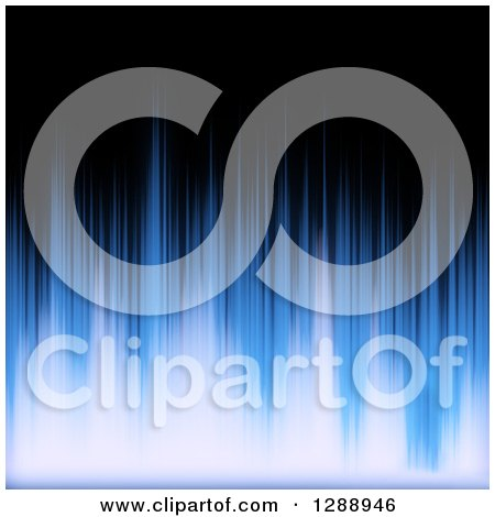 Clipart of a Background of Blue Audio Waveforms on Black - Royalty Free Illustration by Arena Creative