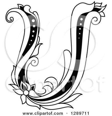 Clipart Of An Abstract Letter U Logo Design