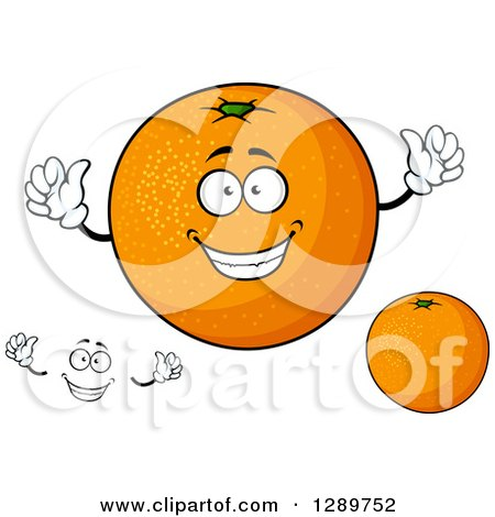 Clipart of Oranges and a Face - Royalty Free Vector Illustration by Vector Tradition SM