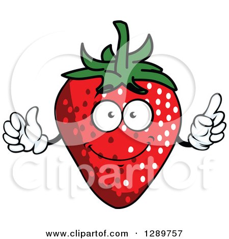 Clipart of a Talking Strawberry Character - Royalty Free Vector Illustration by Vector Tradition SM