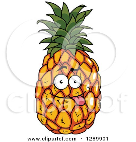 Clipart of a Goofy Pineapple Character Sticing Its Tongue ...