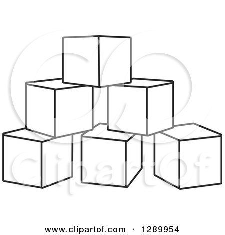 clipart of a pyramid of black and white toy blocks royalty free vector illustration by alex. Black Bedroom Furniture Sets. Home Design Ideas
