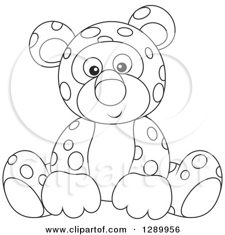 Cute Animals Clipart Black And White