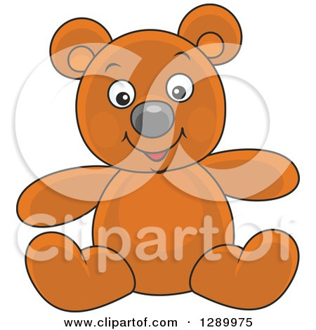 Clipart of a Stuffed Teddy Bear Toy - Royalty Free Vector Illustration by Alex Bannykh