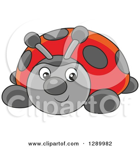 Clipart of a Cute Ladybug Toy - Royalty Free Vector Illustration by Alex Bannykh