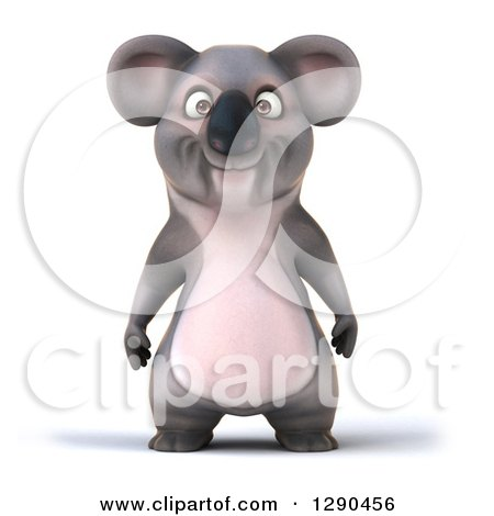 Clipart of a 3d Happy Koala - Royalty Free Illustration by Julos