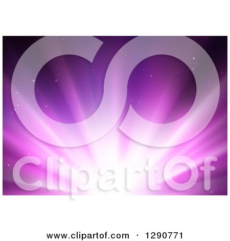 Clipart of a Background of Bright Purple Lights - Royalty Free Vector Illustration by dero
