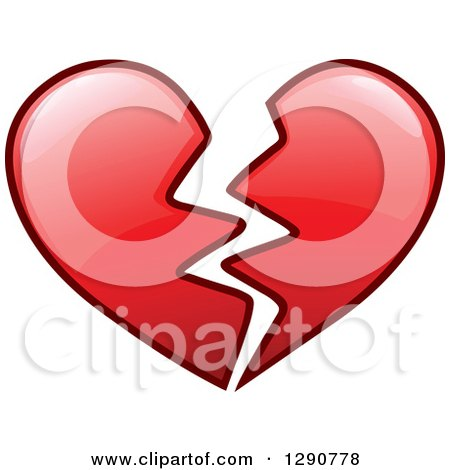 Royalty-Free (RF) Broken Heart Clipart, Illustrations, Vector ...