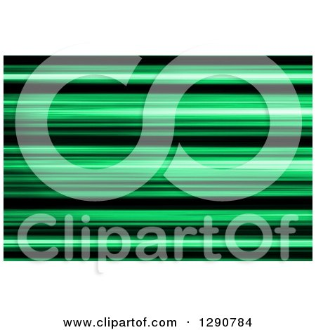 Clipart of a Background of Green and Black Blur or Stripes - Royalty Free Illustration by oboy