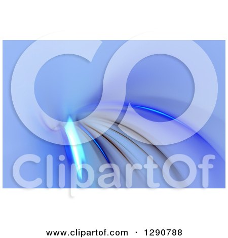 Clipart of a Blue Fractal Background - Royalty Free Illustration by Arena Creative