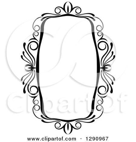 clipart of a black and white ornate rectangle swirl frame 7 rh clipartof com ornate victorian style furniture ornate victorian picture frames