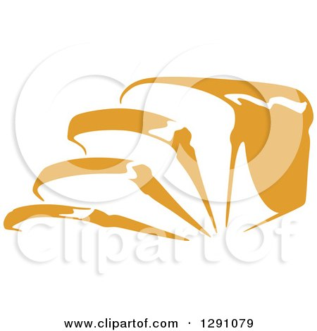 Clipart of a Loaf and Slices of Bread - Royalty Free Vector Illustration by Vector Tradition SM