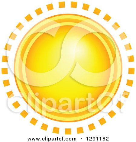 Clipart of a Summer Sun with Ring Rays - Royalty Free Vector Illustration by visekart