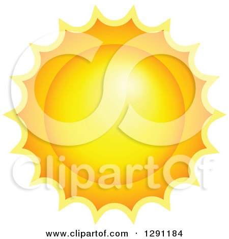Clipart of a Hot Summer Sun - Royalty Free Vector Illustration by visekart