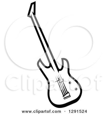 Black And White Electric Guitar By Vector Tradition SM