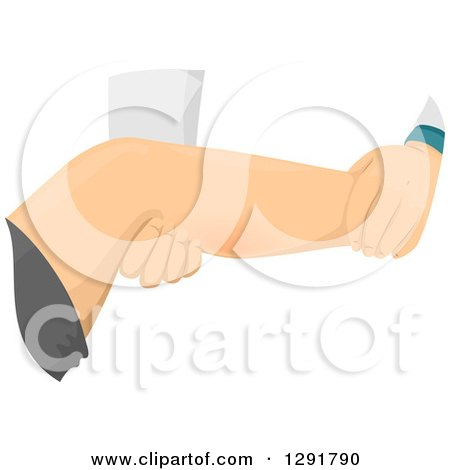 Clipart of a Doctor Examining a Patient's Cramping Leg - Royalty Free Vector Illustration by BNP Design Studio