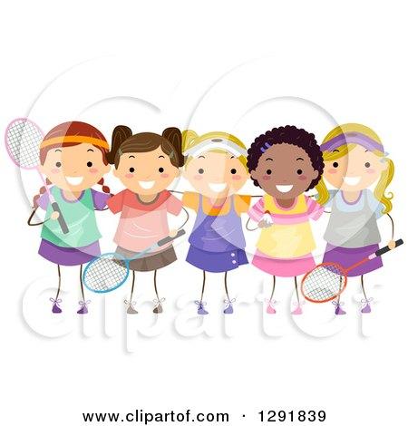 Badminton Players Girls Badminton Player Girls