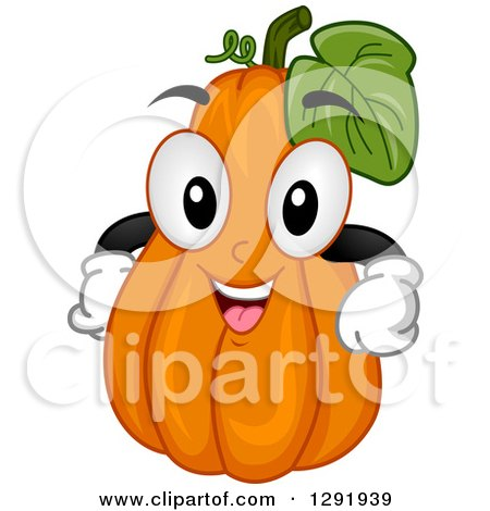 Clipart of a Cartoon Happy Squash Character - Royalty Free Vector Illustration by BNP Design Studio