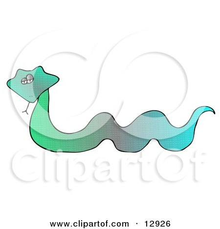 Colorful Green and Blue Snake Clipart Illustration by djart