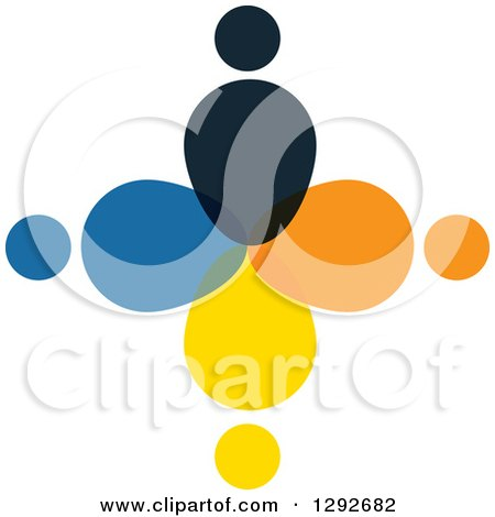 Clipart of a Team Circle of Abstract People - Royalty Free Vector Illustration by ColorMagic