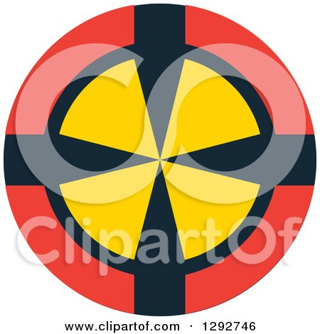 Clipart of a Red Black and Yellow Target - Royalty Free Vector Illustration by ColorMagic