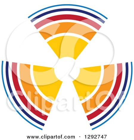 Clipart of a Colorful Fan or Target - Royalty Free Vector Illustration by ColorMagic