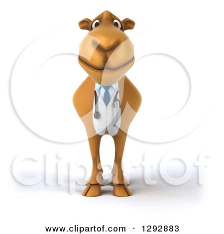 Clipart of a 3d Doctor Veterinarian Camel - Royalty Free Illustration by Julos