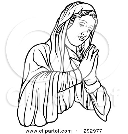 how to draw praying hands for beginners
