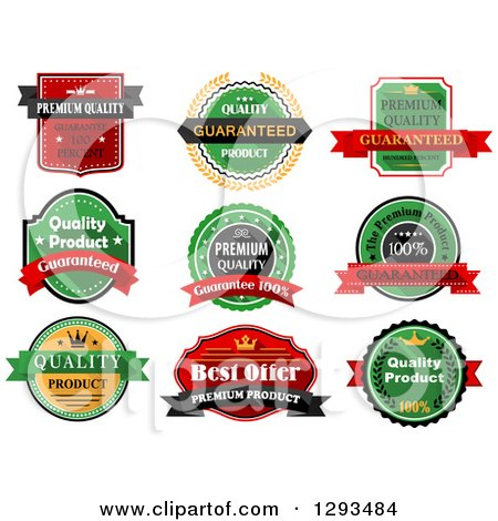 Clipart of Quality Product Label Retail Designs - Royalty Free ...
