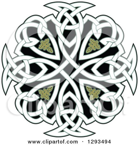 Clipart of a Celtic Knot Cross Design 2 - Royalty Free Vector Illustration by Vector Tradition SM