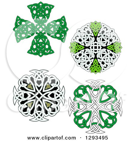 Clipart of Celtic Knot Cross Designs - Royalty Free Vector Illustration by Vector Tradition SM