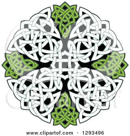 Clipart of a Celtic Knot Cross Design - Royalty Free Vector Illustration by Vector Tradition SM