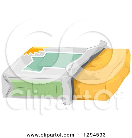 Clipart of a Tub of Butter - Royalty Free Vector Illustration by BNP Design Studio