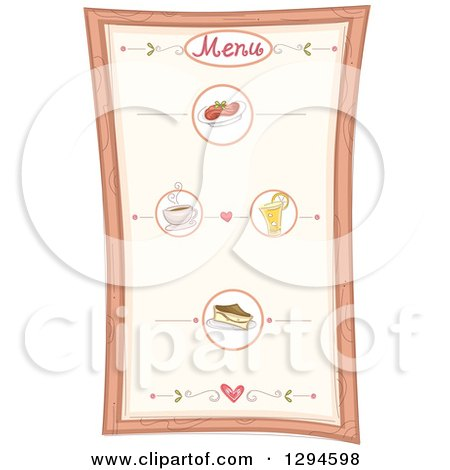 Clipart of a Menu Board with Specialties - Royalty Free Vector Illustration by BNP Design Studio