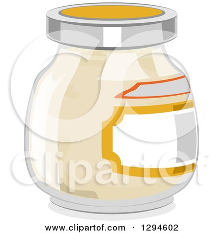 Clipart of a Jar of Mayonnaise - Royalty Free Vector Illustration by BNP Design Studio
