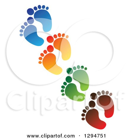 Clipart of a Red Baby Toes and Feet Forming a Heart - Royalty Free ...