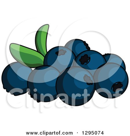 Clipart of Cartoon Blueberries - Royalty Free Vector Illustration by Vector Tradition SM