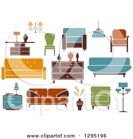 Clipart of Retro or Modern Furniture - Royalty Free Vector Illustration by Vector Tradition SM