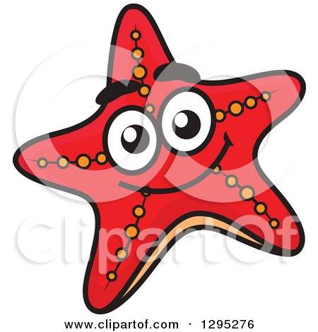 clipart of a cartoon starfish royalty free vector illustration by rh clipartof com