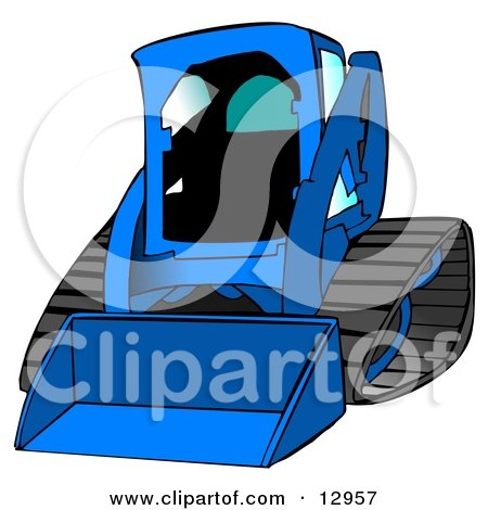 Bobcat Skid Steer Loader in Blue With Blue Tinted Windows Posters, Art Prints