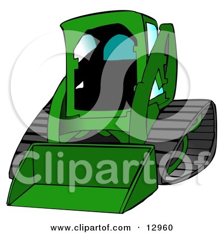 Bobcat Skid Steer Loader in Green With Blue Tinted Windows Posters, Art Prints